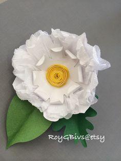 Paper Ranunculus Barrette