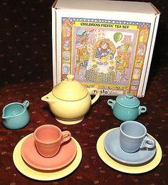 "*** Children's Fiesta ""My First Fiesta"" Tea Set Homer Laughlin China Company **"