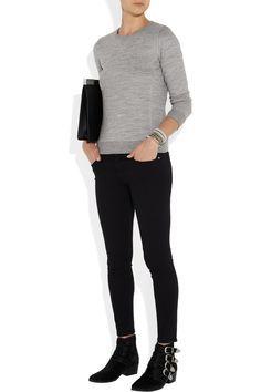 APC grey sweatshirt Net a Porter Toga Pulla, Love Jeans, Urban Chic, Grey Sweatshirt, Frame Denim, Everyday Fashion, What To Wear, Leather Pants, Creations