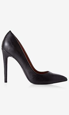 pointed toe high heeled pump BLACK SIZE 7