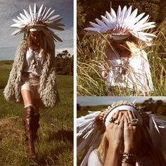headdress + lamb coat