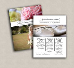 Wedding pricing template for photographers by PixelsandPine