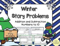 This story problem pack is perfect for the cold, winter months. This pack has 20 addition and subtraction story problems to meet the needs of your students. You will receive the following:- 5 Addition to 10 - Solve using multiple methods- 5 Addition to 10 - Use counters to solve. (Counters cut and paste)- 5 Subtraction to 10 - Solve using multiple methods- 5 Subtraction to 10 - Use counters to solve. (Counters cut and ...