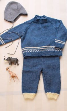 Baby Boy Set in Blue Knit 1-2 T, Vintage Toddler Boy Outfit, 70s Nordic Knit, Matching Pants and Sweater in Royal Blue Colors by ElleBelleVin on Etsy