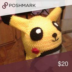 Novelty Hat Pikachu Crochet hat, acrylic yarn. Special orders. Accessories Hats
