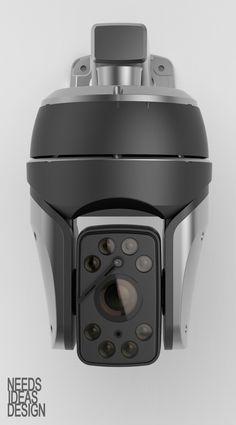XIR CAMERA - CYNIX Form Design, Design Case, Body Worn Camera, Ptz Camera, Remote Camera, Mechanical Design, Security Cameras For Home, Electronic Art, Robotics