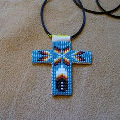 square stitch beaded Native American from Debs Visions | beadwork