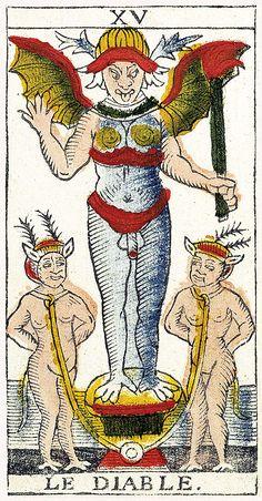 Tarot de Marseille Heritage - Pierre Madenié, Dijon 1709 - Le Diable