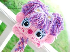 Handmade Crochet Fairy Abby Hat for All Ages. No pattern available, just finished hats for sale online. Crochet Animal Hats, Crochet Kids Hats, Crochet Beanie, Knitted Hats, Crochet Dolls, Crochet Fairy, Cute Crochet, Hand Crochet, Knit Crochet