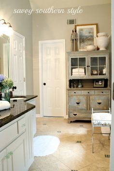 Savvy Southern Style: Master Bath Cabinets are Finished