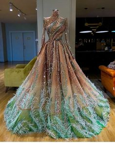 Long sleeve high neck dress - Gowns dresses - Dresses - Fancy dresses - Elegant attire - Ball Long s