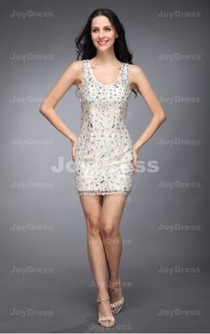 dresses mini at joydress,Colourful Crystal Sheath One Shoulder Short Dress