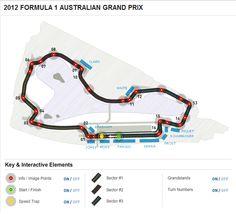 2012 FORMULA 1 AUSTRALIAN GRAND PRIX - Circuit Map from www.Formula1.com Formula 1 Gp, F1 Motor, Australian Grand Prix, Race Tracks, Kart, F1 Racing, Slot Cars, F 1, Motogp
