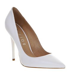 Office On Top White Leather - High Heels I'd chooses a simply white pointed heel