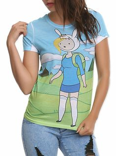 Adventure Time Fionna & Cake Girls T-Shirt Adventure Time Shirt, Adventure Time Quotes, Basic Outfits, Cool Outfits, Cute Tshirts, Funny Shirts, Girl Cakes, Geek Girls, Hot Topic
