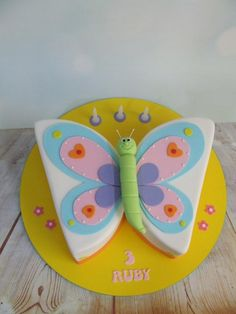 Ruby's butterfly cake