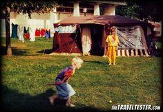 Travelling with a trailer tent – Vintage Travel Photo  #TrailerTentrental #rentatent #trailertent  http://www.rentatrailertent.co.uk/