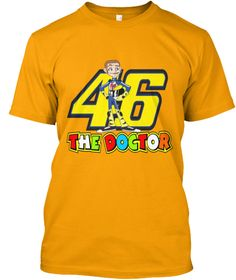 0272da4d 46 The Doctor Gold T-Shirt #redbubble #teespring #tees #tee #the #doctor #46