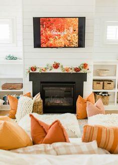 Fall living room decor #LTKunder50 #LTKhome #LTKSeasonal