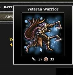 adventure drop from Helheim this warrior can be crafted into a Shadow Warrior