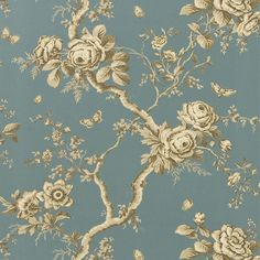 ashfield floral - tourmaline wallpaper | Ralph Lauren