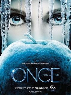 ABC's Once Upon a Time's season four poster puts a Frozen twist on the Queen's red apple. #onceuponatime #frozen