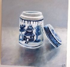 Still life blue and whit series by Owie Simpson