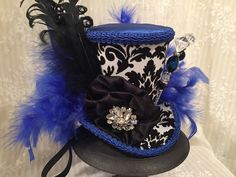 Top Hats, Teapots & Steampunk Accessories by MKButlerDidIt Steampunk Top Hat, Mad Hatter Hats, Steampunk Accessories, Top Hats, Fascinators, Mardi Gras, Alice In Wonderland, Tea Party, Captain Hat