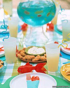 Martha Stewart Kids sprinkler party my little guys birthday:) Sprinkler Party, Kids Sprinkler, Sauce Tartare, Martha Stewart Recipes, Tartar Sauce, Under The Sea Party, Childrens Party, Gordon Ramsay, Jamie Oliver