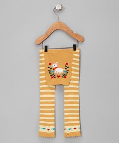 Yellow Stripe Goat Leggings.  My youngest used to have these when she was a toddler.  I wonder if I could still persuade her to wear them...