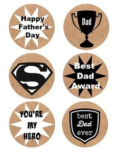 father's day printable tags
