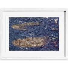 Oliver Gal Guinea Blue Framed Painting Print