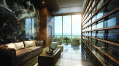 A True Gentleman's Retreat Appointed with overstuffed, leather sofas, personal humidors and a sprawling view over the Atlantic, the Cigar Lounge at The Mansions At Acqualina invites residents to relax, enjoy a smoke and escape the rush of everyday. #LuxuryLiving #Mansions #MiamiRealEstate