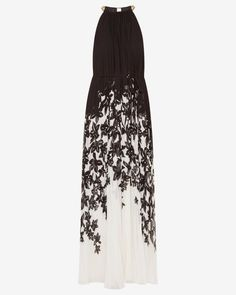 Floral print pleated maxi dress - Black | Dresses | Ted Baker