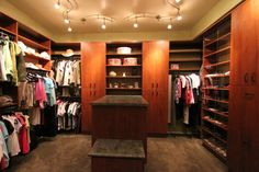View a gallery of custom, quality Walk-In Closets, Wall Closets, & Accessories from Closet Trends of Tucson, Arizona Master Bedroom Closet, Closet Accessories, Custom Closets, Dream Closets, Walk In Closet, Walking, Interior Design, Architecture, Wall