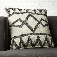 Shop Bias Black and White Chevron Pillows. Offset chevrons create an optical illusion on a black and white wool blend. Woven like a traditional flat-weave dhurrie, graphic pillow adds a bit of texture to the sofa, chair or bed. Reverses to solid white. Pink Fur Pillow, Silk Pillow, Lumbar Pillow, Wool Pillows, Velvet Pillows, Couch Pillows, Modern Throw Pillows, Decorative Pillows, Accent Pillows