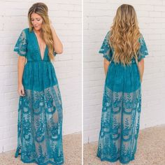 e0a8dfb0edf Shop Women s Honey Punch Blue size L Maxi at a discounted price at Poshmark.