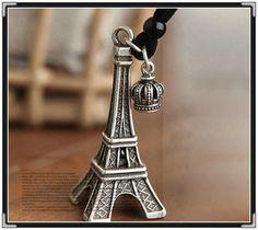 Colar Corrente Vintage Pingente Torre Eiffel - João Pessoa - Jóias e bijuterias