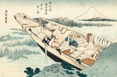 Shibori de Jōshū | Hokusai Boat Painting, Painting Prints, Art Prints, Shibori, Hokusai Paintings, Boat Art, Katsushika Hokusai, Art Japonais, Mount Fuji