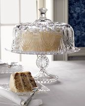 Crystal Cake Stand & Cover  $80.00