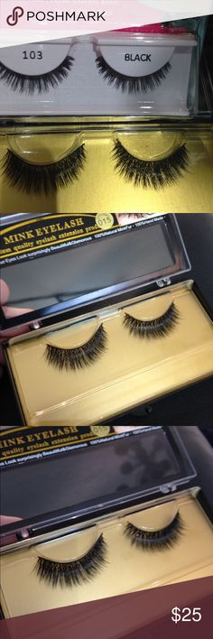 100% real MINK Lashes these a real and can reuse 100% real MINK Lashes are super soft and you can re-use them over and over. They are soft and Natural no one will know your wearing Lashes. You have to try the MINK if you wear lashes you will definitely love em. They are light weight and all the celebrities where only MINK. Don't be fooled by the fakes MINK is expensive Tess Beauty Supply Milwaukee 25 years in business 5 star posher been on posh for years top seller read my reviews mink…