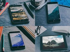 Template files to mock-up display artwork on an iPhone template, laptops, books, etc
