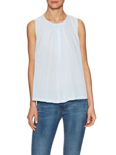 French Connection Polly Plains Pleated Front Top