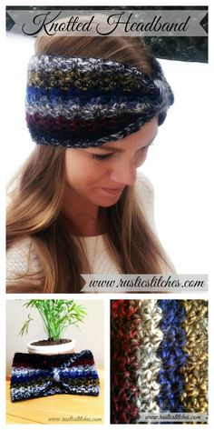 Free Pattern - Crochet Knotted Headband from Rustic Stitches
