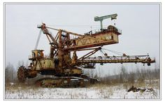 Abandoned machinery in Russia. Don't have a clue it's purpose...was there for years, but now it's been mostly taken away for recycling.