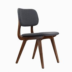 Design Tree Home Midcentury Modern Ivor Side Chair in Grey