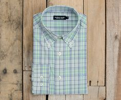 Southern Marsh Sutton Plaid Dress Shirt in Navy & Green Southern Marsh, Shirt Dress, Plaid Dress, Navy And Green, Mens Tops, Stuff To Buy, Shopping, Collection, Women