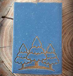 "Christmas Winter Trees Soap Stamp - footprint 2.12"" x 1.65"" (54mm x 42mm) Your Design, Custom Design, Plasticine, Free Advice, Winter Trees, Stamp Making, Custom Stamps, Footprint, Service Design"