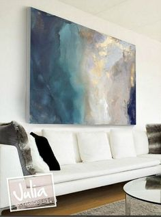 Original Large Abstract Painting, Acrylic Painting on Canvas ...