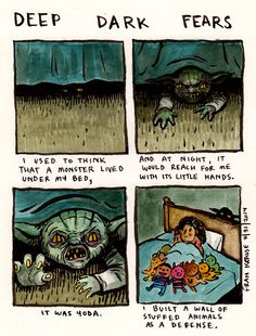 fear submitted by Leah to deep dark fears. -A fear submitted by Leah to deep dark fears. - DIY Handmade Toys Fight PK Puppet Funny greeting card by Lost the Plot - Lost Puppy Creepy Stories, Ghost Stories, Horror Stories, Diy Handmade Toys, Fear Book, Deep Dark Fears, Dark Comics, Funny Comics, Illustration